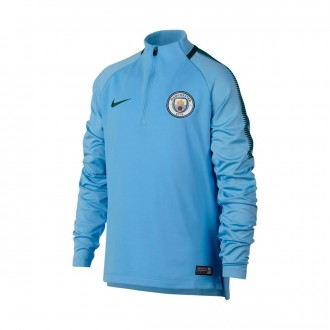 Sudadera  Nike Manchester City FC Squad Dril 2017-2018 Niño Field blue-Outdoor green