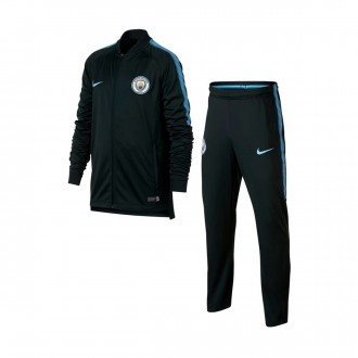 Chándal  Nike Manchester City FC Squad 2017-2018 Niño Outdoor green-Field blue