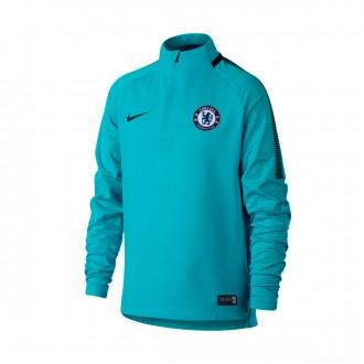 Camisola  Nike Jr Chelsea FC Squad Dril 2017-2018 Omega blue-Anthracite