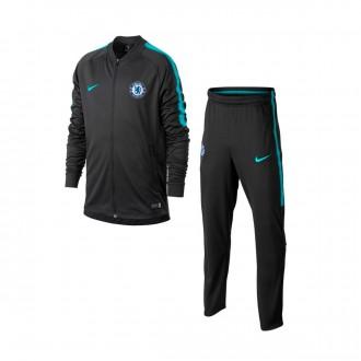Fato de treino  Nike Jr Chelsea FC Squad 2017-2018 Anthracite-Omega blue