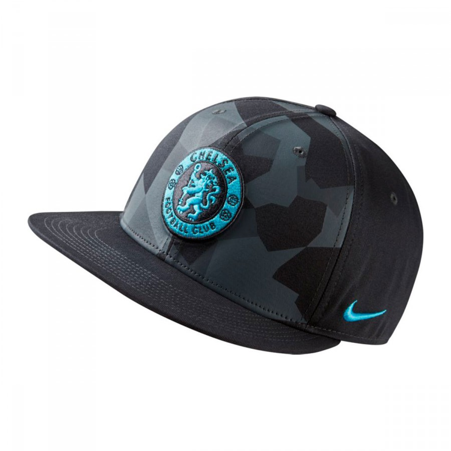 b98a91a3005e3 Cap Nike Chelsea FC true Core Premium 2017-2018 Anthracite-Cool grey ...