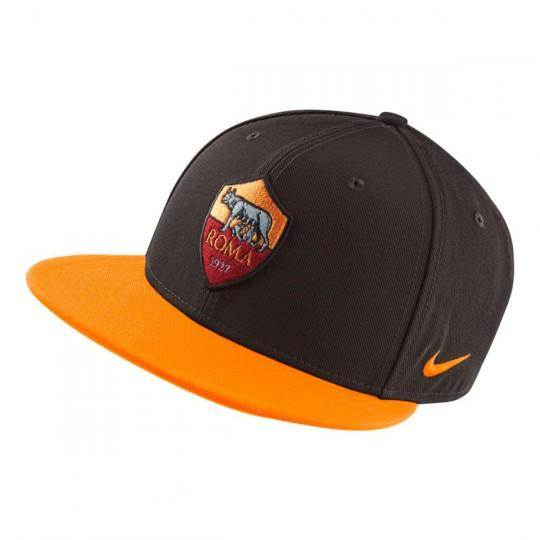 Boné  Nike AS Roma true Core 2017-2018 Velvet brown-Vivid orange