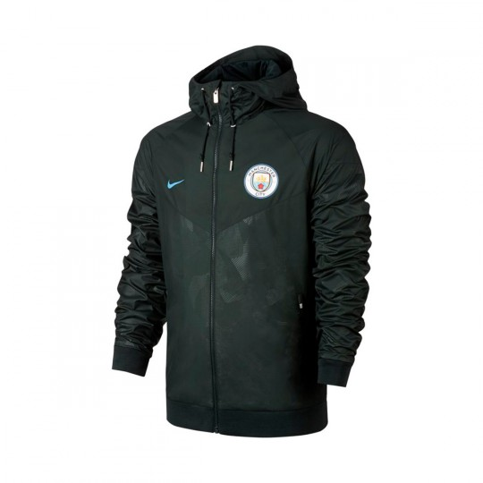 Chaqueta  Nike Manchester City FC NSW Woven 2017-2018 Outdoor green-Field blue