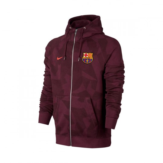 Casaco  Nike FC Barcelona NSW FZ FT 2017-2018 Night maroon-Hyper crimson