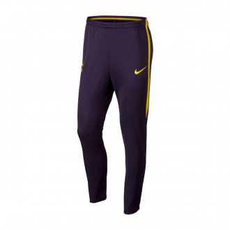 Tracksuit bottoms  Nike Tottenham FC Squad 2017-2018 Purple dynasty-Optical yellow