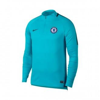 Sweatshirt  Nike Chelsea FC Squad Dril 2017-2018 Omega blue-Anthracite