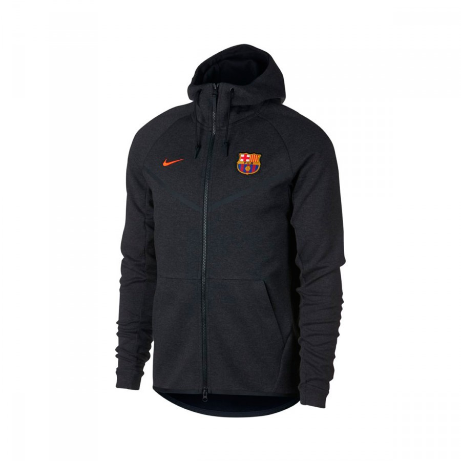 Jacket Nike FC Barcelona NSW Tech Fleece 2017-2018 Black heather ... b91591a59128f