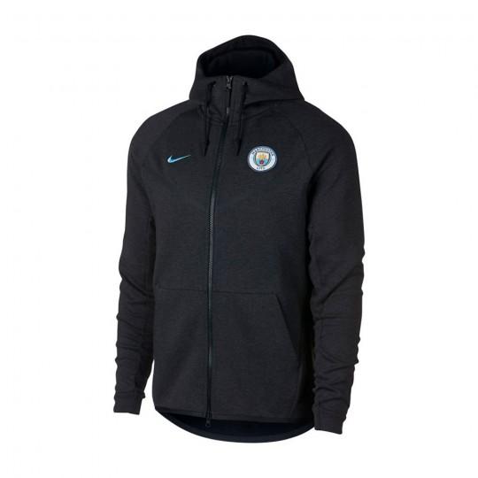 Casaco  Nike Manchester City FC NSW Tech Fleece 2017-2018 Black heather-Black-Field blue
