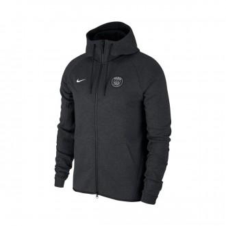Chaqueta  Nike Paris Saint-Germain NSW Tech Fleece 2017-2018 Black heather-Pure platinum