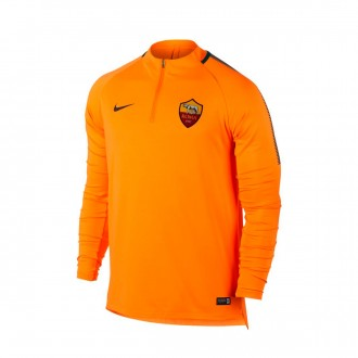 Sweatshirt  Nike AS Roma Squad Dril 2017-2018 Vivid orange-Velvet brown