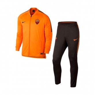 Fato de treino  Nike AS Roma Squad 2017-2018 Vivid orange-Velvet brown
