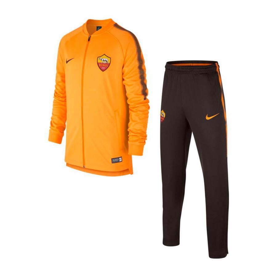Chándal Nike AS Roma Squad 2017-2018 Niño Vivid orange-Velvet brown ... 90bfad52a508