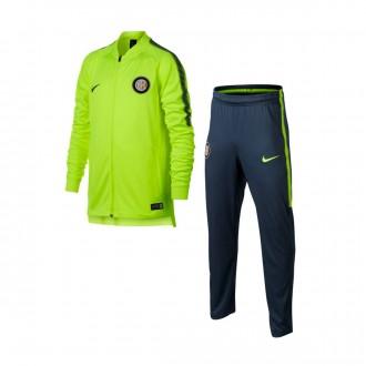 Fato de treino  Nike Inter Milán Squad 2017-2018 Crianças Volt-Thunder blue