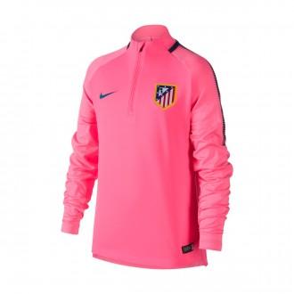 Sudadera  Nike Atlético de Madrid Squad Dril 2017-2018 Niño Laser pink-Space blue