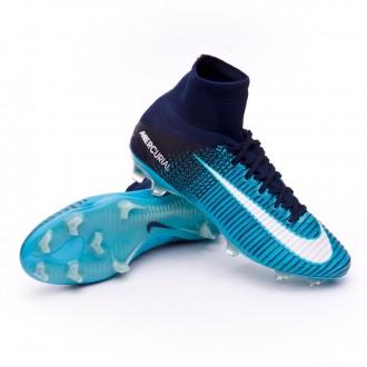 Chuteira  Nike Mercurial Superfly V ACC FG Glacier blue-Gamma blue-Obsidian-White