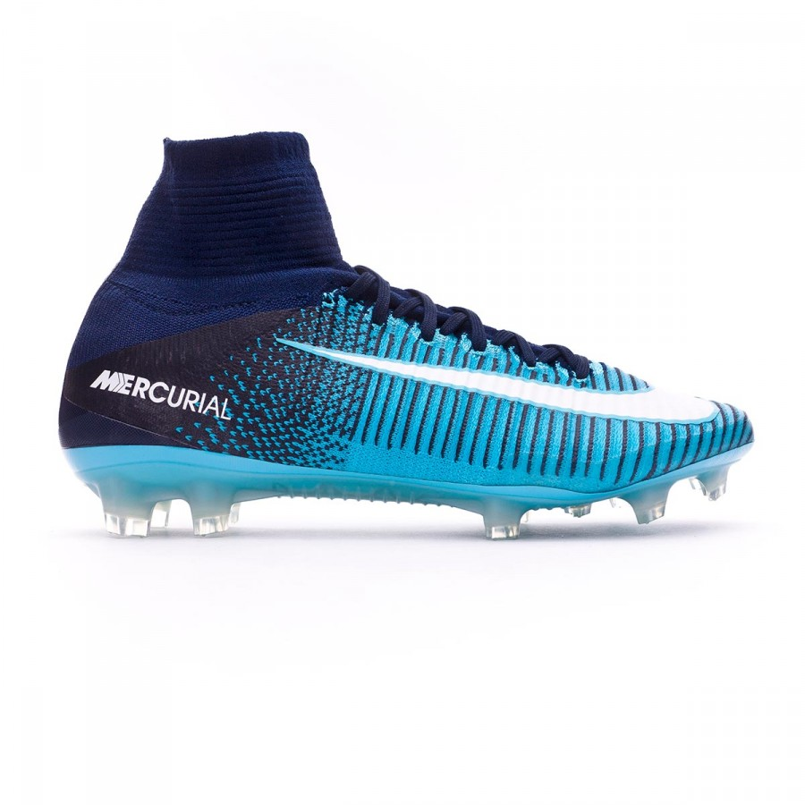 Boot Nike Mercurial Superfly V ACC FG Glacier blue-Gamma  blue-Obsidian-White - Football store Fútbol Emotion