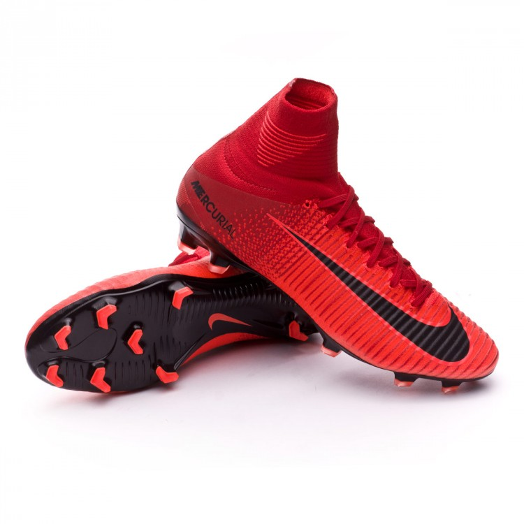free shipping 865d6 de762 Bota Mercurial Superfly V ACC FG University red-Bright crimson-Black