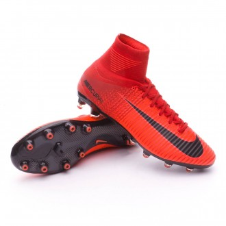 Chuteira  Nike Mercurial Superfly V ACC AG-Pro University red-Bright crimson-Black