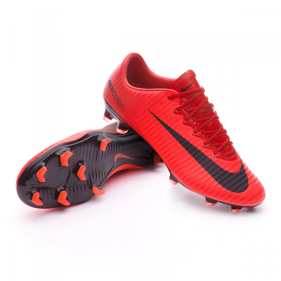 san francisco 982fc 3740a Bota Mercurial Vapor XI ACC FG University red-Bright crimson-Black