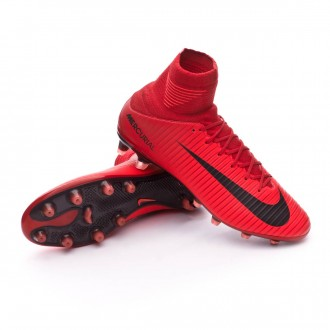 Chuteira  Nike Mercurial Veloce III DF AG-Pro University red-Bright crimson-Black