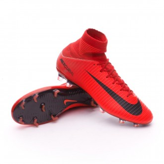 Chuteira  Nike Mercurial Veloce III DF FG University red-Bright crimson-Black