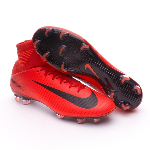 81425610b Football Boots Nike Mercurial Veloce III DF FG University red-Bright crimson -Black - Tienda de fútbol Fútbol Emotion