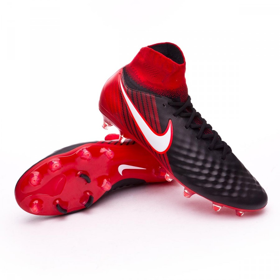 Boot Nike Magista Orden II FG Black-White-University red ... 08bc6c23d