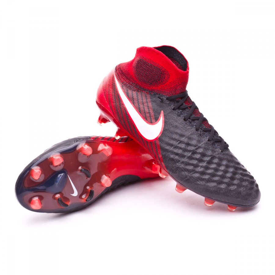 dc6d21541e5c Football Boots Nike Magista Obra II ACC FG Black-White-University ...