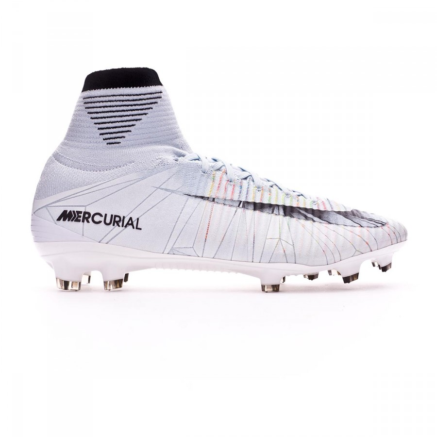 09bea393404 Football Boots Nike Mercurial Superfly V CR7 ACC FG Blue tint-Black-White-Volt  - Football store Fútbol Emotion