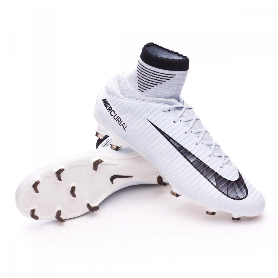 30b47047a Football Boots Nike Mercurial Veloce III DF CR7 FG Blue tint-Black ...