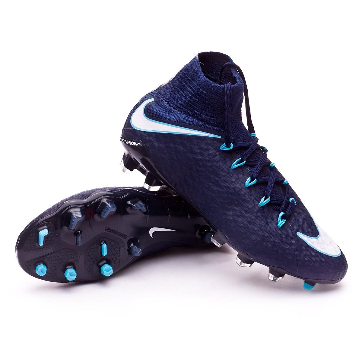 22b892de69a Football Boots Nike Hypervenom Phatal III DF FG Glacier blue-Gamma ...