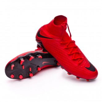 Zapatos de fútbol  Nike Hypervenom Phatal III DF FG University red-Bright crimson-Black
