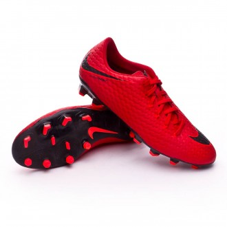 Zapatos de fútbol  Nike Hypervenom Phelon III FG University red-Bright crimson-Black