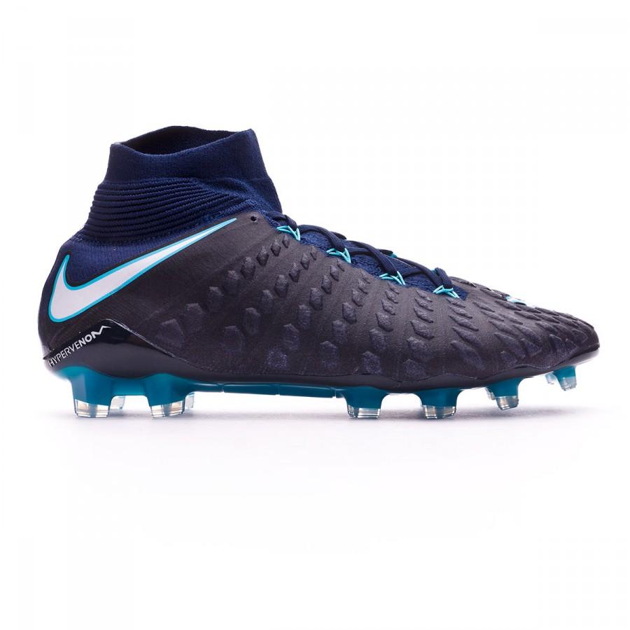 d9f5ce540db3 Football Boots Nike Hypervenom Phantom III DF ACC FG Glacier blue-Gamma blue -Obsidian-White - Football store Fútbol Emotion
