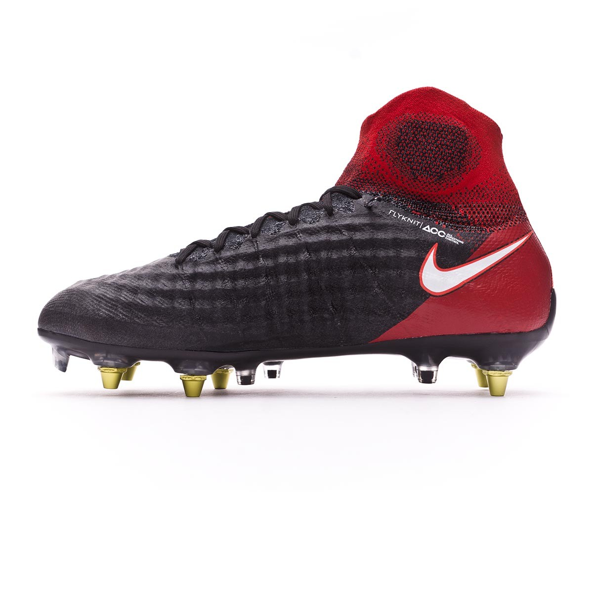 c871bf58f Football Boots Nike Magista Obra II ACC SG-Pro Anti-Clog Black-White-University  red - Football store Fútbol Emotion