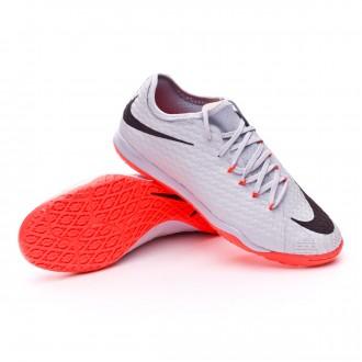 Sapatilha de Futsal  Nike HypervenomX Finale II Special Edition IC Pure platinum-Black-Bright crimson
