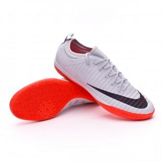 Sapatilha de Futsal  Nike MercurialX Finale II Special Edition IC Pure platinum-Black-Bright crimson