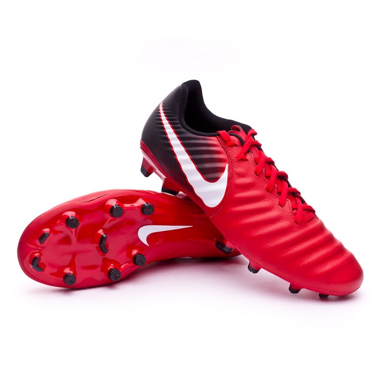 c4a14f7acf9e Bota de fútbol Nike Tiempo Ligera IV FG Black-White-University red ...