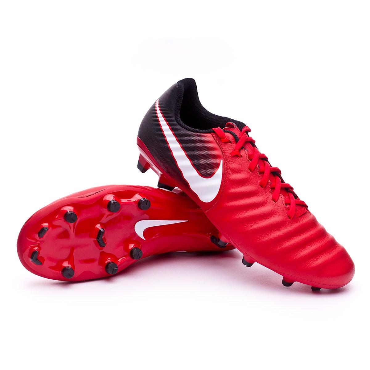 749da78b3ad9f Football Boots Nike Tiempo Ligera IV FG Black-White-University red ...