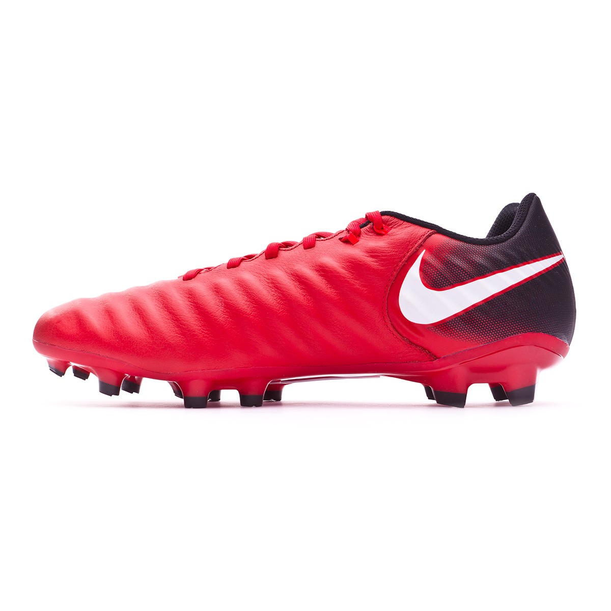 f384a564080b2 Football Boots Nike Tiempo Ligera IV FG Black-White-University red -  Football store Fútbol Emotion