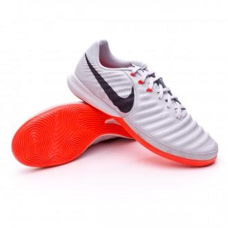 Sapatilha de Futsal  Nike TiempoX Finale Special Edition IC Pure platinum-Black-Bright crimson