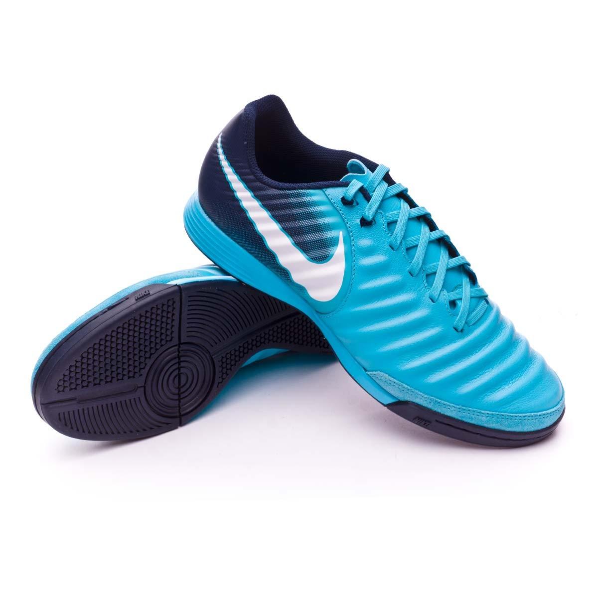 7fc5d29b7d0b8 Sapatilha de Futsal Nike TiempoX Ligera IV IC Glacier blue-Gamma  blue-Obsidian-White - Loja de futebol Fútbol Emotion