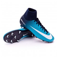 79c6aa01f563a Zapatos de fútbol Nike Mercurial Victory VI DF FG Obsidian-White ...