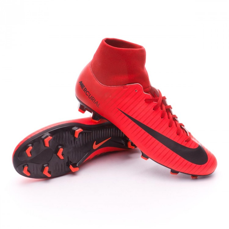 hot sale online dbac5 e100c Bota Mercurial Victory VI DF FG University red-Bright crimson-Black