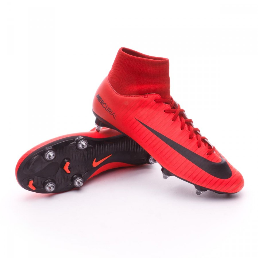 outlet store aa794 a1df1 Bota Mercurial Victory VI DF SG University red-Bright crimson-Black