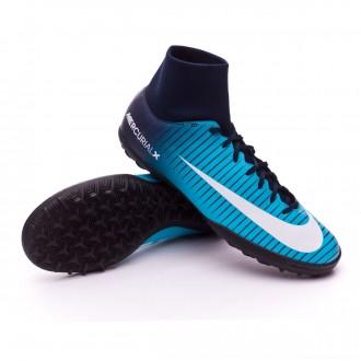 Zapatilla  Nike MercurialX Victory VI DF Turf Glacier blue-Gamma blue-Obsidian-White