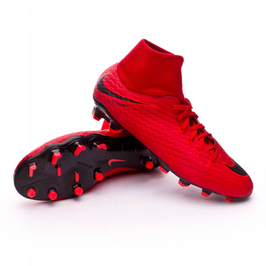 ... Bota Hypervenom Phelon III DF FG University red-Bright crimson-Black.  Vídeo 33dea5103bf2a
