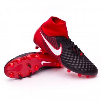 Chuteira  Nike Magista Onda II DF FG Black-White-University red