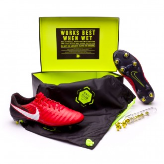 Chuteira  Nike Tiempo Legend VII Anti-Clog ACC SG-Pro Black-White-University red