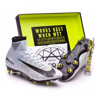 Chaussure  Nike Mercurial Superfly V CR7 ACC SG-Pro Blue tint-Black-White-Volt